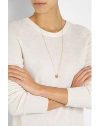 Noor Fares Metallic Icosagon 18karat Rose Gold Diamond Necklace