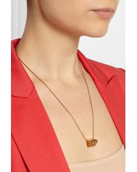Stella McCartney Metallic Goldtone Heart Pendant Necklace
