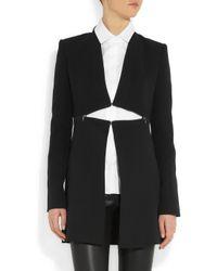 Victoria Beckham Black Silk and Wool-Blend Jacket
