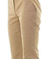 Alexander McQueen Natural Boot-cut Cotton-canvas Trousers