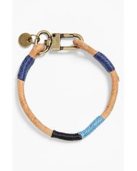 Caputo & Co. | Blue Colorblock Leather Bracelet for Men | Lyst