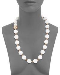 Di Modolo - White Agate Labradorite Necklace - Lyst