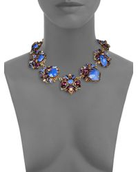 Erickson Beamon - Blue Girls On Film Swarovski Crystal Necklace for Men - Lyst