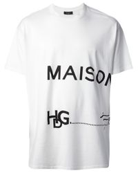 Givenchy White Logo Print T-shirt for men