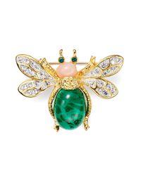 Kenneth Jay Lane - Green Jeweled Bug Pin - Lyst