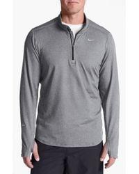 Nike   Gray 'element' Dri-fit Half Zip Running Top for Men   Lyst