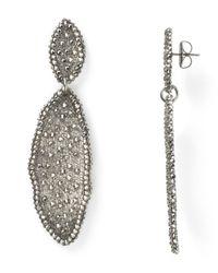Roni Blanshay | Metallic Wavy Linear Earrings | Lyst