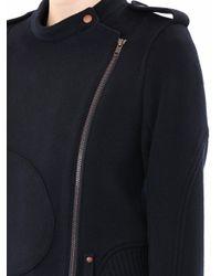 Theory Blue Wool Biker Jacket