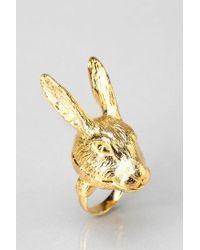 Andrea Garland - Metallic Lip Balm Hartley Hare Ring Medium - Lyst