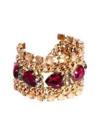 YMC Red New Look Stone Heart Bracelet