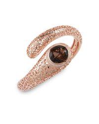 Di Modolo - Pink Smoky Quartz and Diamond Pave Coil Bracelet - Lyst
