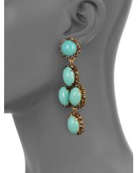 Erickson Beamon - Metallic Glenda Swarovski Crystal Clipon Drop Earrings - Lyst