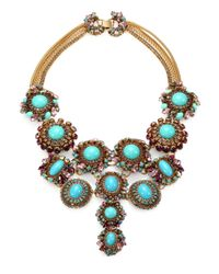 Erickson Beamon | Blue Girls On Film Swarovski Crystal Multi-Row Necklace | Lyst