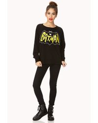 Forever 21 - Black Batman Lover Sweatshirt You've Been Added To The Waitlist - Lyst
