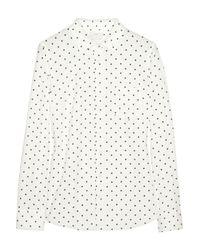 J.Crew - White New Boy Polka Dot Cotton Shirt - Lyst