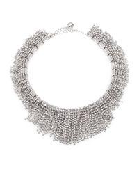 kate spade new york | Metallic Candy Bits Fringe Bib Necklace | Lyst