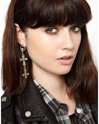 ASOS - Metallic Judgement Earrings - Lyst