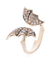Stephen Webster | Pink Diamond Butterfly Rose Gold Ring | Lyst