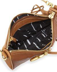 Kelsi Dagger Brooklyn - Brown Caroline Stirrup Zip Crossbody Bag Tobacco - Lyst