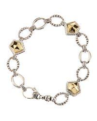 Lagos | Metallic Gold Rocks Bracelet Goldsilver | Lyst
