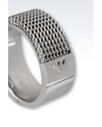 Emporio Armani - Gray Ring for Men - Lyst