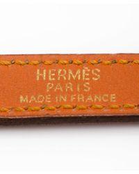 Hermès | Preowned Orange Leather Kelly Double Tour Wrap Bracelet | Lyst