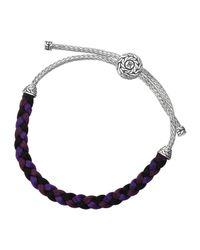 John Hardy | Size M Classic Chain Silver Knot Bracelet Purple | Lyst