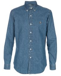 Polo Ralph Lauren | Blue Denim Shirt for Men | Lyst