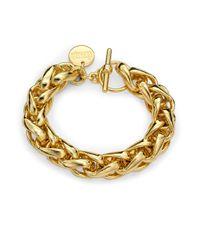 1ar - Metallic Braided Chain Bracelet - Lyst