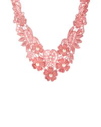 ASOS | Pink Limited Edition Crochet Choker Necklace | Lyst