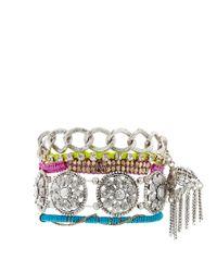 ASOS - Gray Indian Tassel Bracelet Pack - Lyst