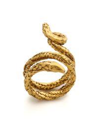 Aurelie Bidermann - Metallic Snake Ring - Lyst