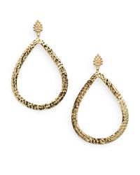 Bavna | Metallic 1.0 Tcw Champagne Diamond & 18k Yellow Gold Earrings | Lyst