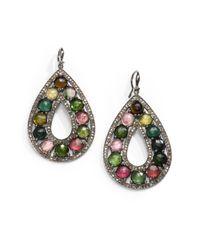Bavna | Multicolor Diamond, Tourmaline & Sterling Silver Earrings | Lyst