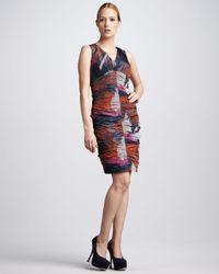 Bigio Collection   Multicolor Ruched Taffeta Dress   Lyst