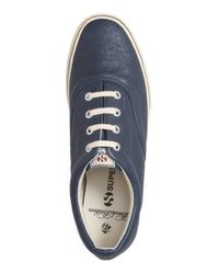 Brooks Brothers - Blue Superga® Leather Sneakers for Men - Lyst