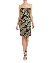 Dolce & Gabbana Metallic Jacquard Strapless Dress
