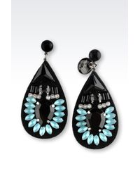 Emporio Armani - Blue Earrings - Lyst