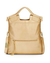 Foley + Corinna - Mid City Metallic Leather Convertible Foldover Handbag - Lyst