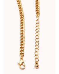 Forever 21 - Metallic Statement Bib Necklace - Lyst