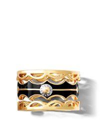Henri Bendel - Black Petal Puzzle Ring - Lyst