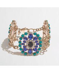 J.Crew | Blue Factory Jeweled Brooch Bracelet | Lyst