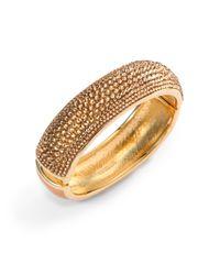 Judith Leiber | Metallic Glitz Swarovski Crystal Bangle Bracelet | Lyst