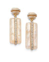 Kara Ross - Natural Marbleized Drop Earrings - Lyst