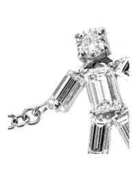 Matchstick - Metallic 18kt White Gold Boy Bracelet With White Diamonds - Lyst