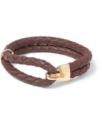 Miansai Red Beacon Woven-Leather And Metal Bracelet for men