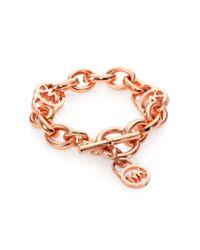 Michael Kors | Metallic Heritage Fulton Padlock Charm Toggle Bracelet | Lyst