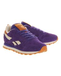 Reebok Purple Classic Leather W