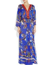 Roberto Cavalli Multicolor Printed Silk Kaftan