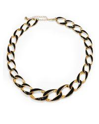 Saks Fifth Avenue - Metallic Enamel Chain Link Necklace - Lyst